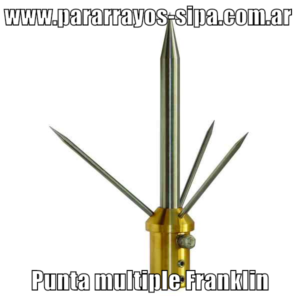 www.pararrayos-sipa.com.ar punta multiple Franklin-